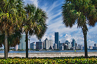Brickell Skyline from Rickenbacker Causeway