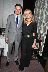 EDWARD TAYLOR and SOFIA WELLESLEY at a dinner hosted by Marcus Wareing and Johnnie Walker Blue Label in The Private Dining Room, Marcus Wareing at The Berkeley, Wilton Place, London on 7th November 2012.