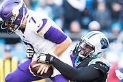 December 10, 2017: Minnesota vs Carolina. Kawann Short sacks Keenum, Case