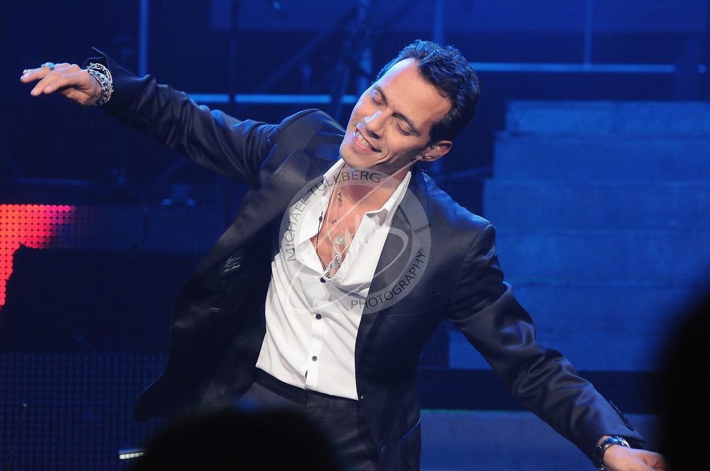 Singer Marc Anthony performs live at Nokia Theatre L.A. Live