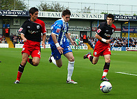 Photo: Olly Greenwood.<br />Colchester United v Southampton. Coca Cola Championship. 28/10/2006. Colchester's Greg Halford and Southampton's Chris Baird