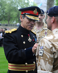 © under license to London News Pictures. 08/01/2011. General Cima, the Governor of The Tower of London has been removed from his position following a disciplinary investigation. No explanation has been given. Maj Gen Cima was appointed in 2006. PICTURED ON 21/05/2010 General Cima addresses the crowd at an historic medal presentation at the Tower of London. It is the first presentation of its kind ever to be held there. 150 mainly Royal Signals Officers and Soldiers who have just returned from Afghanistan were presented their Afghan Medals by General Cima, the Governor of The Tower of London. Picture credit should read Stephen Simpson/London News Pictures