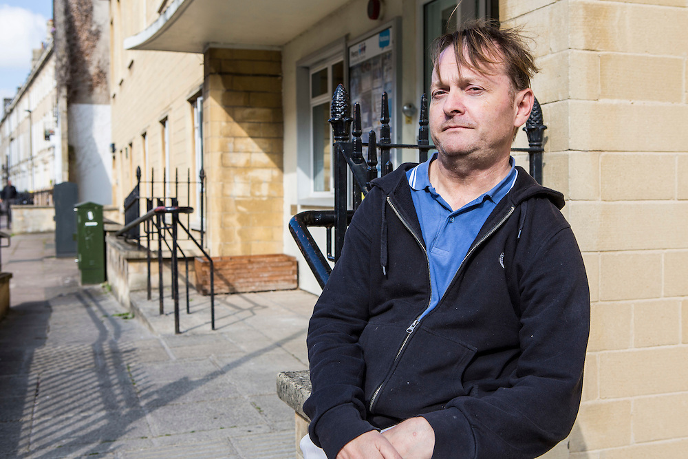 Roger Hougton, manager of the  Percy community centre, Bath. With the help and support of Bath and West Community Energy they have a solar PV array on their roof and have installed energy efficient (LED) lightbulbs throughout their centre. Bath, Somerset.