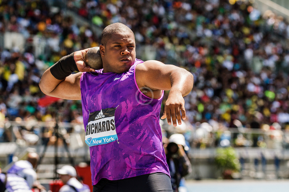 adidas Grand Prix Diamond League Track & Field: Mens' Shot Put, O'Dayne Richards, Jamaica