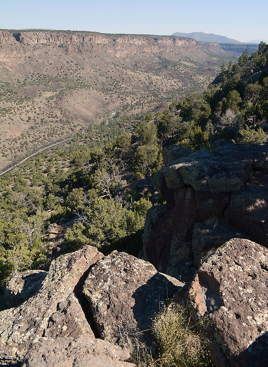 jt062917f/ a sec/jim thompson/ From the crest of the Rio Grande Gorge looking down on the Middle Box area of the Rio Grande.  Thursday June. 29, 2017. (Jim Thompson/Albuquerque Journal)