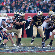 Navy QB (#4) Ricky Dobbs rushes for a few yards early in the 2nd quarter. Navy set the tone early in the game as Navy defeats Army 31-17 in front of 69,223 at Lincoln Financial Field in Philadelphia Pennsylvania