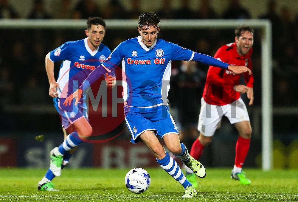 Matthew Lund of Rochdale - Mandatory byline: Matt McNulty/JMP - 07966 386802 - 20/10/2015 - FOOTBALL - Gigg Lane - Rochdale, England - Rochdale v Coventry - Sky Bet League One