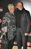 LONDON - November 01: Denise Welch & Lincoln Townley at the Forever Crazy Press Night (Photo by Brett D. Cove)