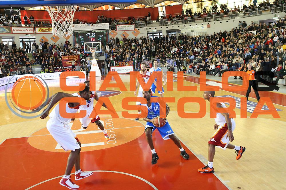 DESCRIZIONE : Roma Lega A 2012-13 Acea Roma Banco di Sardegna Sassari<br /> GIOCATORE : Bootsy Thornthon<br /> CATEGORIA : tiro sequenza penetrazione<br /> SQUADRA : Banco di Sardegna Sassari<br /> EVENTO : Campionato Lega A 2012-2013 <br /> GARA : Acea Roma Banco di Sardegna Sassari<br /> DATA : 23/12/2012<br /> SPORT : Pallacanestro <br /> AUTORE : Agenzia Ciamillo-Castoria/M.Simoni<br /> Galleria : Lega Basket A 2012-2013  <br /> Fotonotizia :  Roma Lega A 2012-13 Acea Roma Banco di Sardegna Sassari<br /> Predefinita :