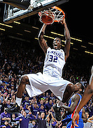 MANHATTAN, KS - JANUARY 30:  Forward Jamar Samuels #32 of the Kansas State Wildcats dunks the ball in the second half against the Kansas Jayhawks on January 30, 2010 at Bramlage Coliseum in Manhattan, Kansas.  (Photo by Peter G. Aiken/Getty Images) *** Local Caption *** Jamar Samuels