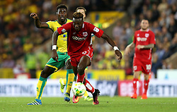 Tammy Abraham of Bristol City goes past Alexander Tettey of Norwich City with the ball - Mandatory by-line: Robbie Stephenson/JMP - 16/08/2016 - FOOTBALL - Carrow Road - Norwich, England - Norwich City v Bristol City - Sky Bet Championship