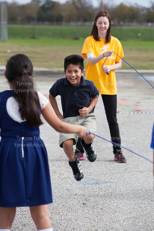 Playworks<br /> <br /> <br /> Chambers Elementary School<br /> 10700 Carvel Ln., <br /> Houston, TX 77072<br /> <br /> <br /> 3rd grade recess<br /> <br /> Kids with RWJF release in pic #4112, 4109, 4082