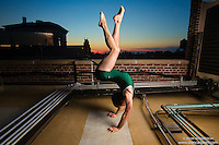 New York City Rooftop Dance As Art Photography Project- featuring dancer, Agustin Berstein