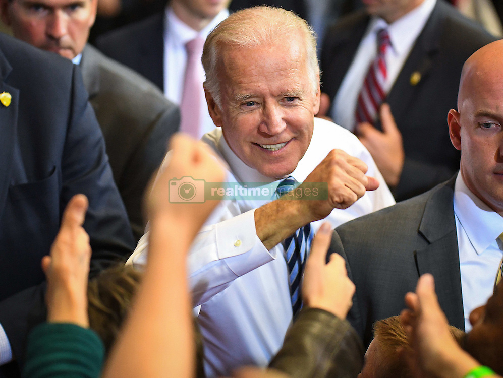 October 24, 2016 - Dayton, Ohio, U.S. - US Vice President Joe Biden greets attendees at a campaign rally for democratic Presidential nominee Hillary Clinton in Dayton, Ohio, Monday, October 24, 2016 (Credit Image: © Bryan Woolston via ZUMA Wire)