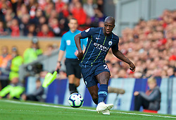 LIVERPOOL, ENGLAND - Sunday, October 7, 2018: Manchester City's Benjamin Mendy during the FA Premier League match between Liverpool FC and Manchester City FC at Anfield. (Pic by David Rawcliffe/Propaganda)