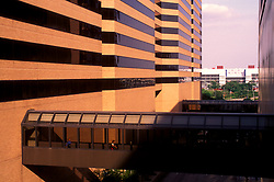 Stock photo of 4 Houston Center skywalks in Houston, Texas,