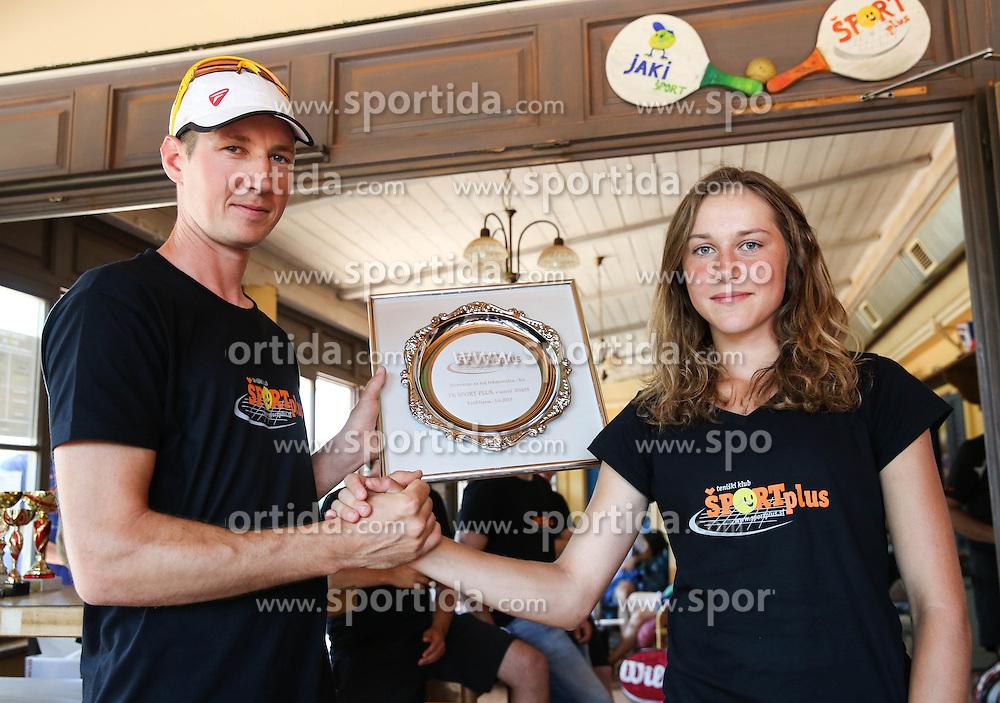 Robert Cokan and Kaja Juvan during meeting of TK Sport Plus after season 2014/15 on June 6, 2015 in TC Ilirija, Ljubljana, Slovenia. Photo by Vid Ponikvar / Sportida
