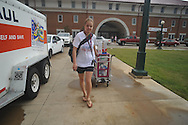 Anastasia Varenita moves into a dorm at the University of Mississippi in Oxford, Miss. on Wednesday, August 17, 2011. Classes for the fall semester begin Monday, August 22, 2011.
