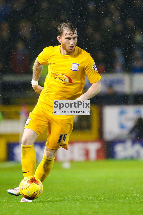 Joe Garner of Preston North End in action during Burnley v Preston North End, Sky Bet Championship, 5th December 2015, (c) Jackie Meredith/SportPix.org.uk Tom Clarke of Preston North End