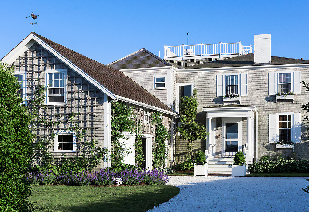 Charming home in Nantucket town, Massachusetts, USA.