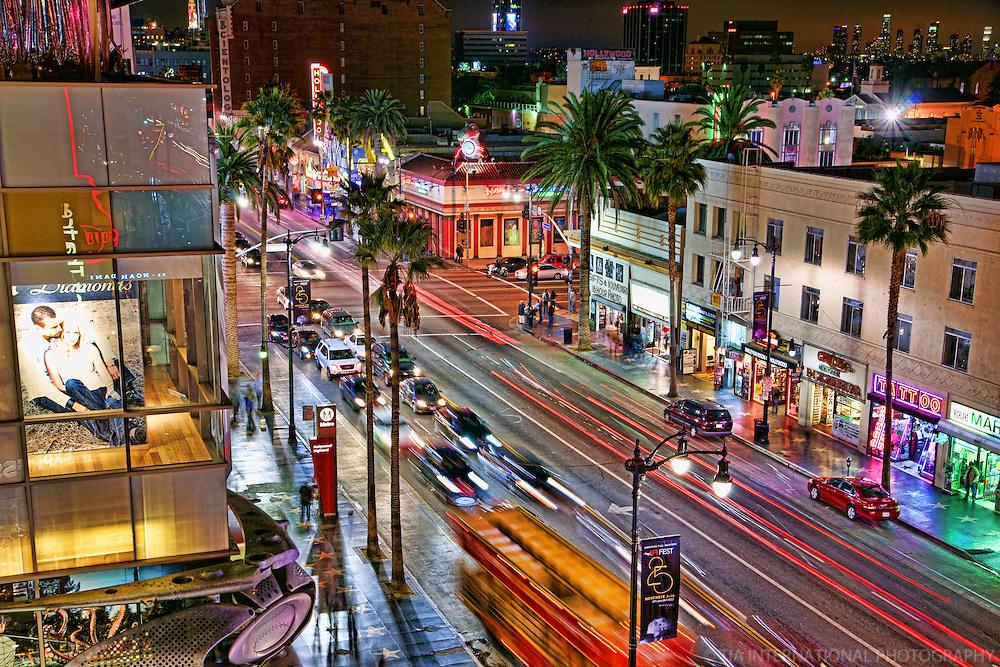 Los Angeles - Hollywood Boulevard at Night
