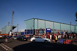 A general view of Prenton Park as fans make their way into the stadium before kick off - Mandatory by-line: Matt McNulty/JMP - 12/07/2017 - FOOTBALL - Prenton Park - Birkenhead, England - Tranmere Rovers v Liverpool - Pre-season friendly