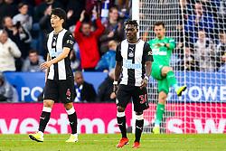 Christian Atsu of Newcastle United and Ki Sung-Yueng of Newcastle United cut dejected figures - Mandatory by-line: Robbie Stephenson/JMP - 29/09/2019 - FOOTBALL - King Power Stadium - Leicester, England - Leicester City v Newcastle United - Premier League