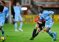 17-11-2009 VOETBAL: JONG ORANJE - JONG SPANJE: ROTTERDAM<br /> Nederland wint met 2-1 van Spanje / Vurnon Anita en Javi Martinez<br /> ©2009-WWW.FOTOHOOGENDOORN.NL
