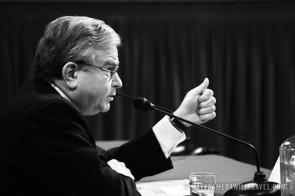 "Samuel ""Sandy"" Berger, Former Assistant to the President for National Security Affairs, testifying before the 9/11 Commission's Public Hearing Number 8 on Wednesday, 24 March 2004."