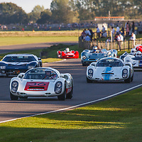 1967 Porsche 910 6-cylinder driven by Uwe Bruschnik in the Whitsun Trophy at Goodwood Revival 2019