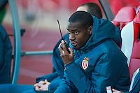 KONDOGBIA GEOFFREY / Talkie walkie  - 07.04.2015 -  Monaco  / Montpellier  - Match en retard de la 25eme journee de Ligue 1<br />Photo : Serge Haouzi / Icon Sport