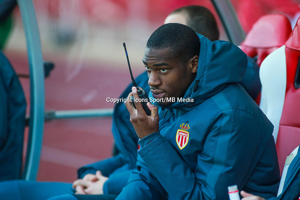 KONDOGBIA GEOFFREY / Talkie walkie  - 07.04.2015 -  Monaco  / Montpellier  - Match en retard de la 25eme journee de Ligue 1<br />