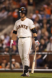 SAN FRANCISCO, CA - APRIL 18: Buster Posey #28 of the San Francisco Giants stands on deck before an at bat against the Arizona Diamondbacks during the second inning at AT&T Park on April 18, 2016 in San Francisco, California. The Arizona Diamondbacks defeated the San Francisco Giants 9-7 in 11 innings.  (Photo by Jason O. Watson/Getty Images) *** Local Caption *** Buster Posey