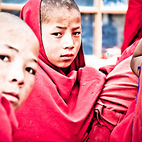 Rizong, Ladakh - 15 luglio 2009: monaci buddisti vicino al monastero di Rizong. Il censimento rivela che la percentuale di buddisti nella regione &egrave; diminuito dal 53.83% al 45.87% negli ultimi 40 anni. (Daily Times)<br /> <br /> <br /> Rizong, Ladakh - July 15, 2009: Buddhist monks in Rizong, July 15, 2009. Census reveals that the Buddhists share of Ladakh population has dropped from 53.83 to 45.87% over the past 4 decades. (Daily Times)