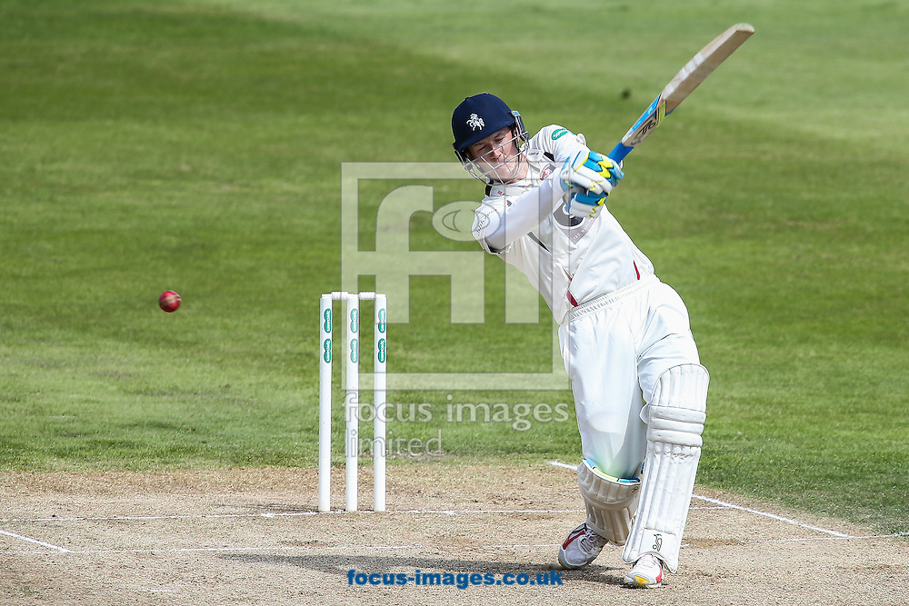 Joe Denly of Kent hits out during the Specsavers County C'ship Div Two match at the County Ground, Northampton<br /> Picture by Andy Kearns/Focus Images Ltd 0781 864 4264<br /> 16/05/2016