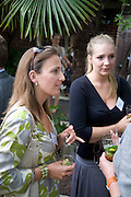 CHARLIE BELL; ROWENA REA, Archant Summer party. Kensington Roof Gardens. London. 7 July 2010. -DO NOT ARCHIVE-© Copyright Photograph by Dafydd Jones. 248 Clapham Rd. London SW9 0PZ. Tel 0207 820 0771. www.dafjones.com.