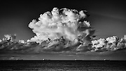 Storm Cell off the Australian East Coast with waiting coal ships