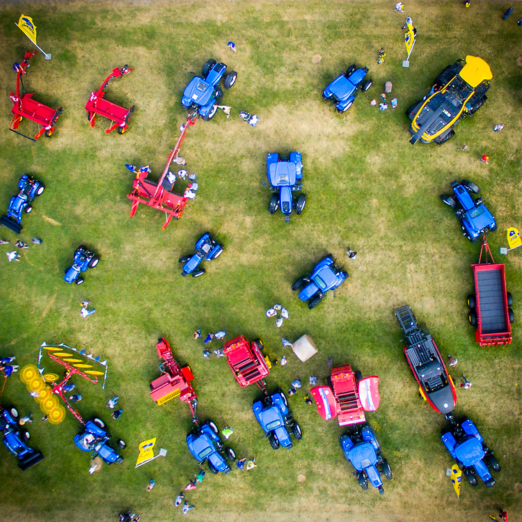 Aerial view of Ag Progress Day 2015 in State College, Pennsylvania.