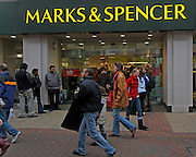 Marks and Spencer, clearance sale 27 December 2008, Ipswich, Suffolk, England