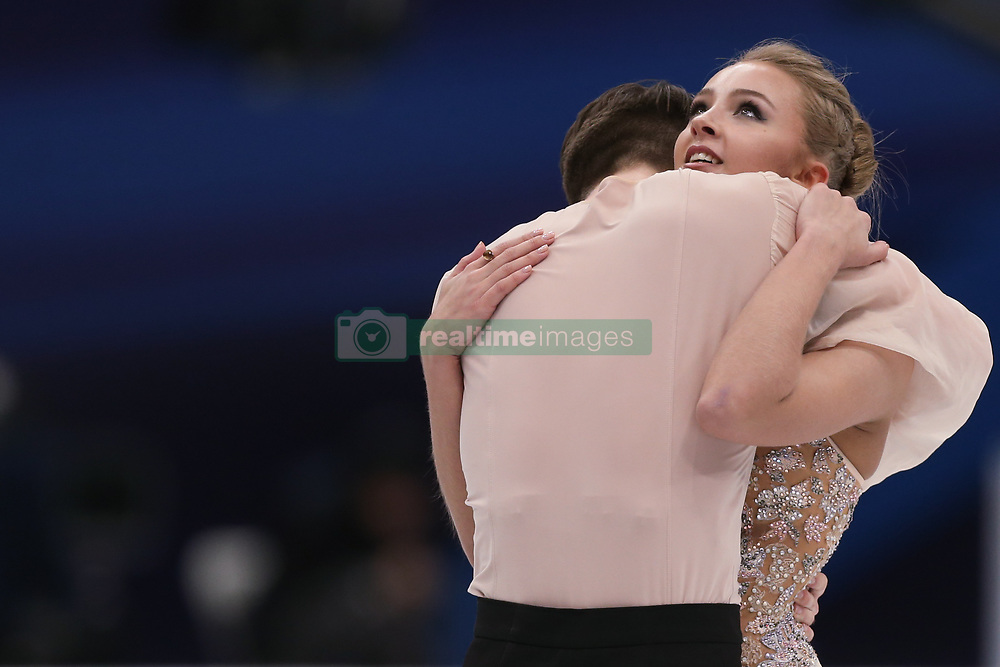 January 20, 2018 - Moscow, Russia - Alexandra Stepanova and Ivan Bukin of Russia perform during an ice dance free dance event at the 2018 ISU European Figure Skating Championships, at Megasport Arena in Moscow, on January 20, 2018. (Credit Image: © Igor Russak/NurPhoto via ZUMA Press)