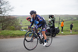Ilona Hoeksma (NED) of Hitec Products Cycling Team climbs up the Cote de Lofthouse during the Tour de Yorkshire - a 122.5 km road race, between Tadcaster and Harrogate on April 29, 2017, in Yorkshire, United Kingdom.