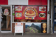 Exterior of a Peruvian restaurant, serving traditional south American dishes, on 4th January, at Elephant & Castle, London borough of Southwark, England.