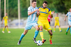 Rok Grudina of Gorica vs Yegor Filipenko of Maccabi during 2nd Leg football match between ND Gorica and Maccabi Tel Aviv FC (ISR) in First Qualifying Round of UEFA Europa League 2016/17, on July 7, 2016 in Sports park Nova Gorica, Slovenia. Photo by Vid Ponikvar / Sportida