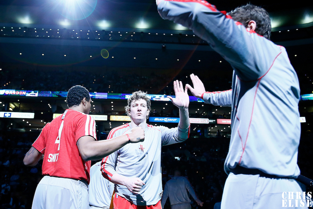 11 January 2013: Houston Rockets center Omer Asik (3) is seen during the players introduction prior to the Boston Celtics 103-91 victory over the Houston Rockets at the TD Garden, Boston, Massachusetts, USA.