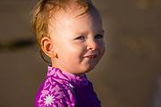 15 week old girl at the beach Sunshine Coast, Queensland, Australia