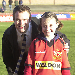MASCOT/BRAD PIERCEWRIGHT SOUTHPORT GAME 25/1//03 Southport v  Kettering Town  25th January 2003