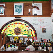La Bodeguita del Medio bar and restaurant in Varadero. Tourists from around world enjoy the fine white sand beaches of Varadero.<br /> Photography by Jose More