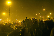 Maha Kumbh Mela, Allahbad, 24th February 2013 - the evening before the full moon, Maghi Purnima Snan, on 25th February 2013, when an estimated 18 million people were to visit the Kumbh Mela.