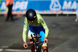 Nika Jancic (SLO) at UCI Road World Championships 2019 Junior Women's TT a 13.7 km individual time trial in Harrogate, United Kingdom on September 23, 2019. Photo by Sean Robinson/velofocus.com