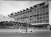 Architecture - CIE Bus Station at Store St, Dublin. Interior and Exterior.03/07/1953. <br /> Bus Áras